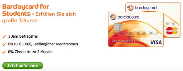 barclaycard student kreditkarte f r studenten finanzabank. Black Bedroom Furniture Sets. Home Design Ideas