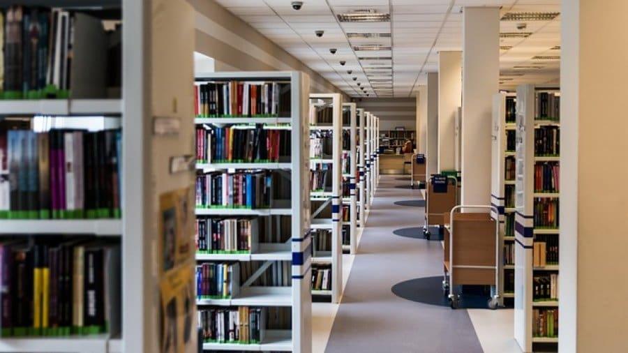 Lernen in einer Bibliothek